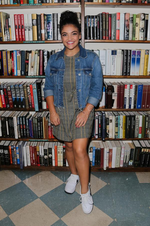 Laurie Hernandez. HUNTINGTON, NY - OCT 11: Olympian Laurie Hernandez signs copies of her book `She`s Got This` at Book Revue on October 11, 2018 in Huntington stock images