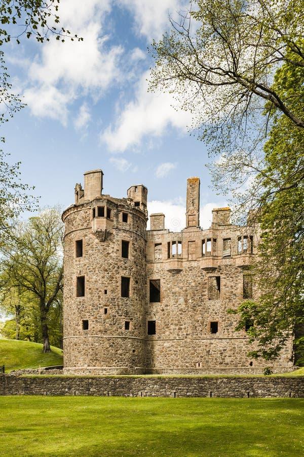 Huntly城堡在苏格兰 库存照片