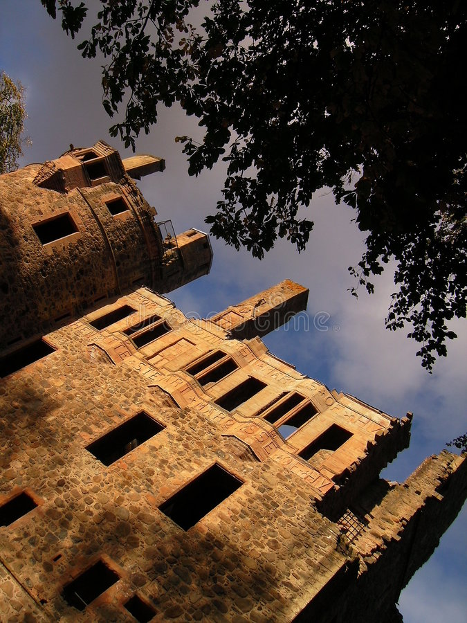 Huntly Castle (Angle) royalty free stock photo