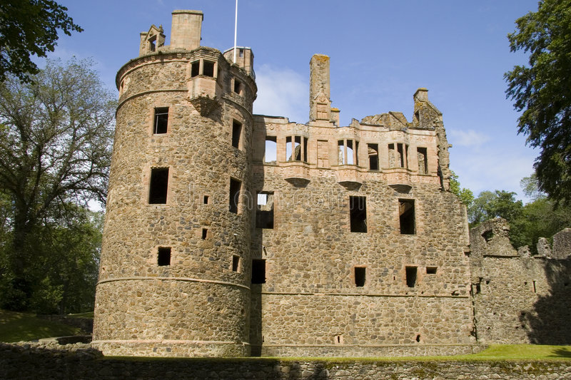 Huntly Castle, Scotland royalty free stock photo