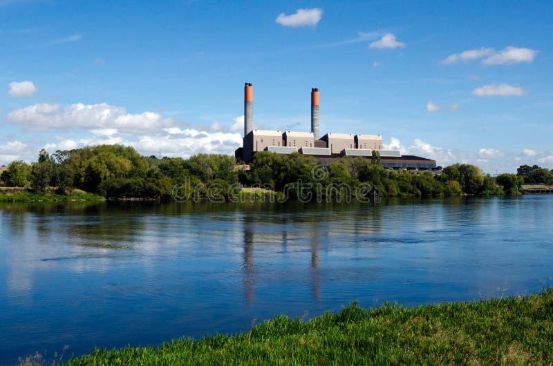 Central eléctrica de Huntly imágenes de archivo libres de regalías