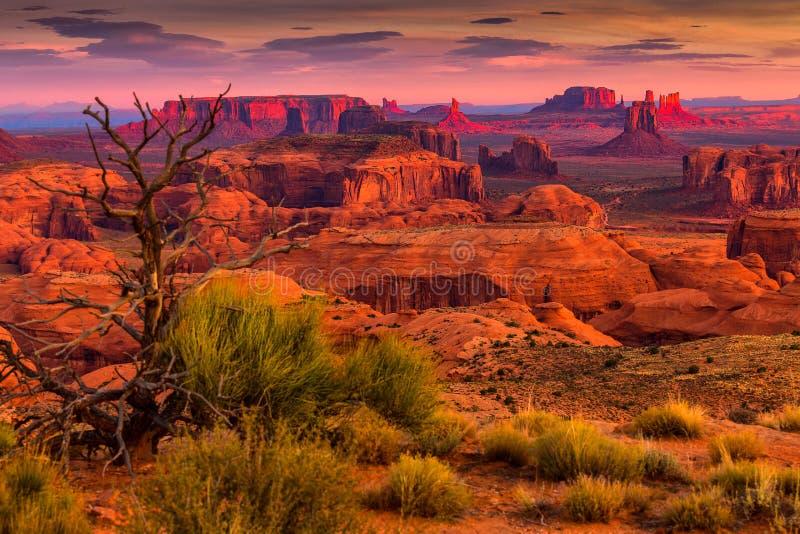 Hunts Mesa navajo tribal majesty place near Monument Valley, Arizona, USA. Sunrise in Hunts Mesa navajo tribal majesty place near Monument Valley, Arizona, USA stock image