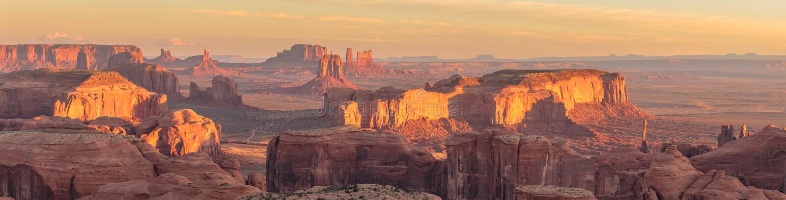 Hunts Mesa. Is a rock formation located in Monument Valley, south of the border between Utah and Arizona in the United States royalty free stock photos