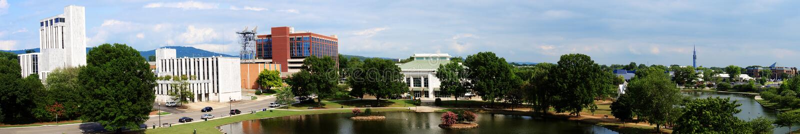 Huntsville panoramiczny pejzaż miejski, Alabama fotografia royalty free