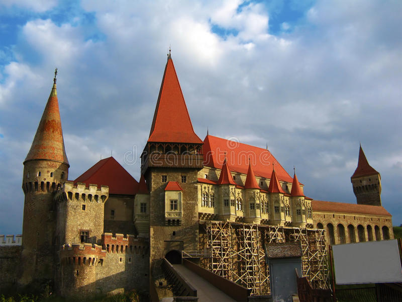 hunyad замока стоковые фото