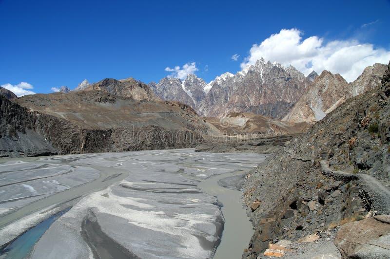Hunza rzeka zdjęcie stock