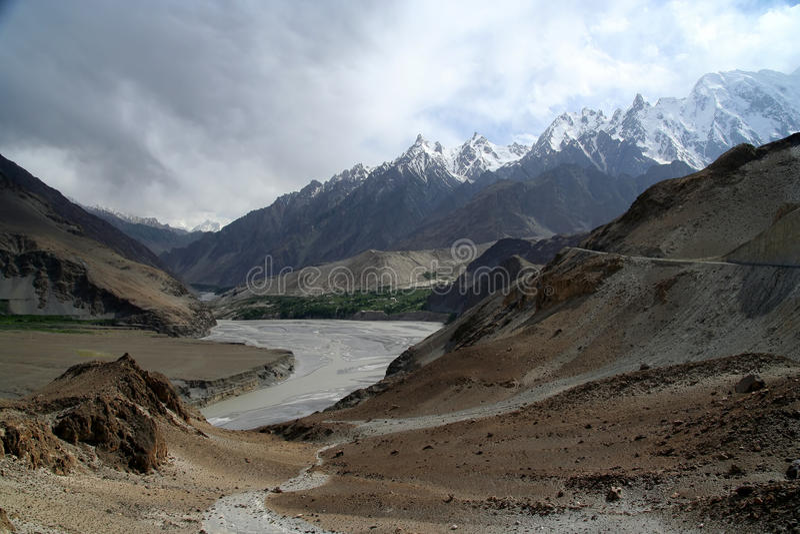 Hunza rzeka zdjęcie royalty free