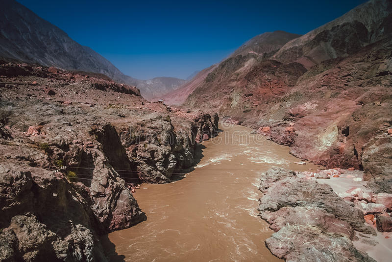Hunza rzeka obrazy stock