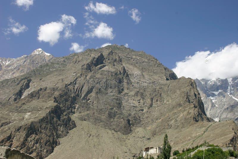 Hunza-Tal in Pakistan stockfotos
