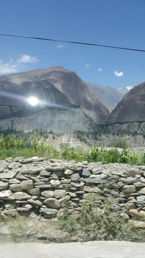 Hunza valley stock photography