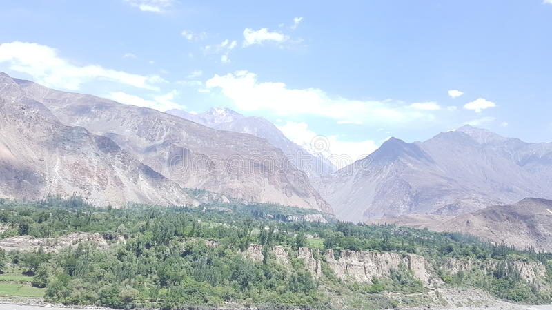 Hunza valley stock photo