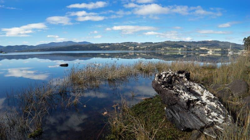 Huon River Landscape Tasmania lizenzfreie stockbilder