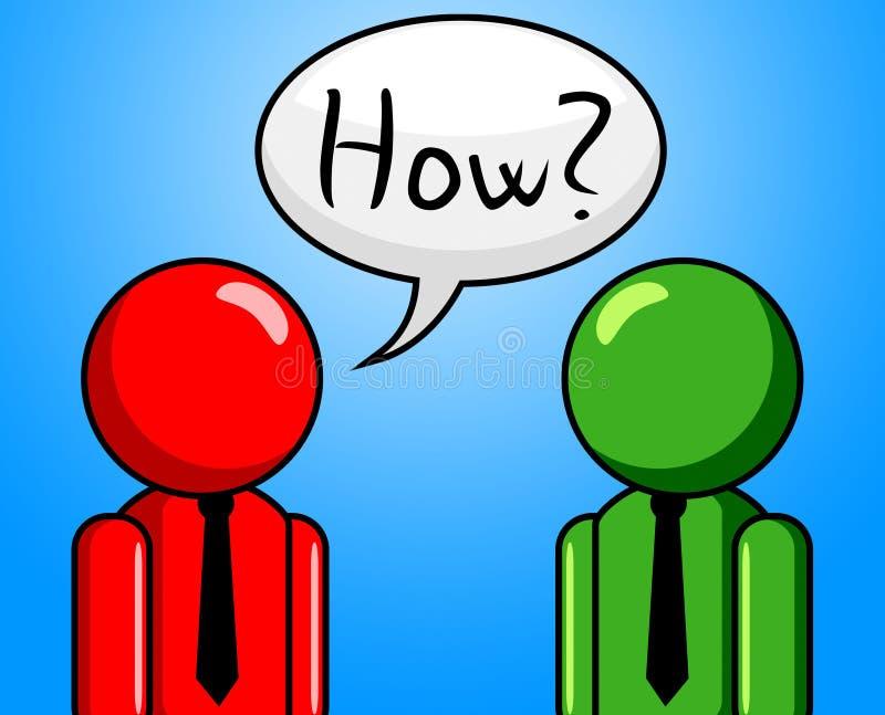 Hur frågan indikerar vanliga frågor och svar royaltyfri illustrationer