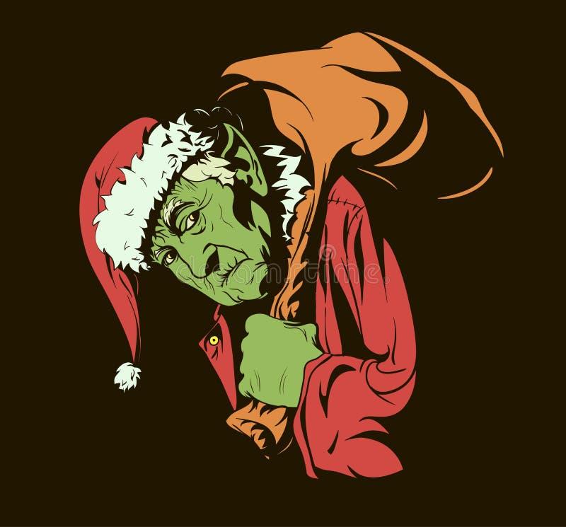 Hur Grinchen stal jul stock illustrationer