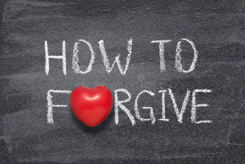 Hur man förlåter hjärta royaltyfri foto