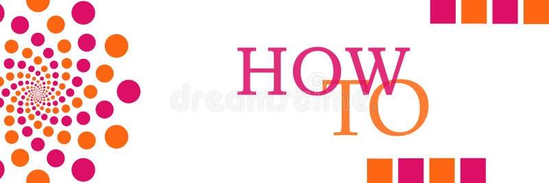 Hur till rosa orange Dots Horizontal vektor illustrationer