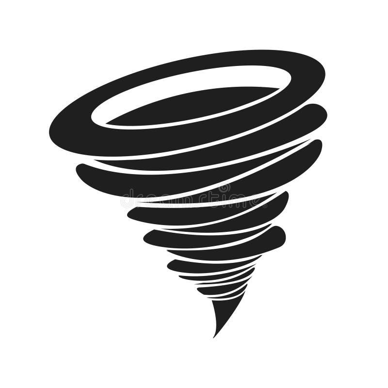 Huracán del huracán del tornado de la muestra del torbellino - tormenta Fondo blanco Ilustración del vector libre illustration