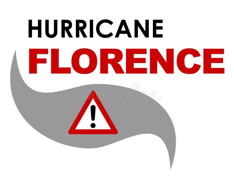 Huracán Florencia ilustración del vector