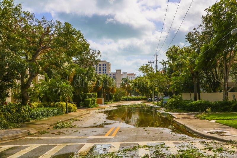 Huracán Irma Damage fotografía de archivo libre de regalías