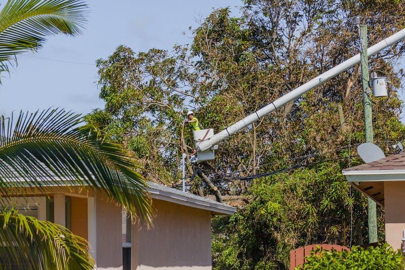 Huracán Irma Damage foto de archivo libre de regalías