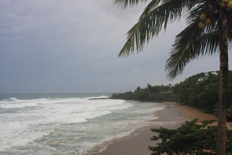 Huracán Irma Rincon, Puerto Rico 2017 de la playa de las bóvedas imagen de archivo libre de regalías