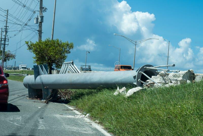 Huracán Maria Damage en San Juan Puerto Rico fotos de archivo libres de regalías