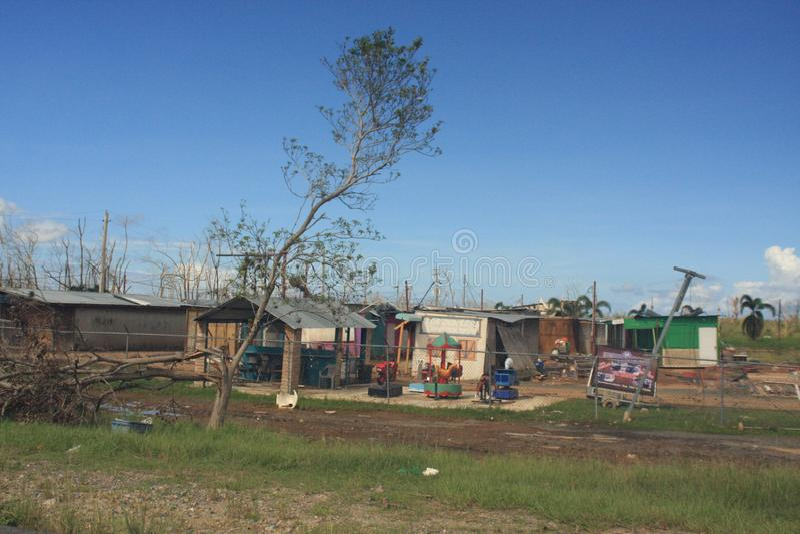Huracán Maria Mayaguez Puerto Rico fotografía de archivo
