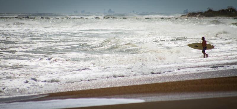 Huracán Maria Surf foto de archivo libre de regalías
