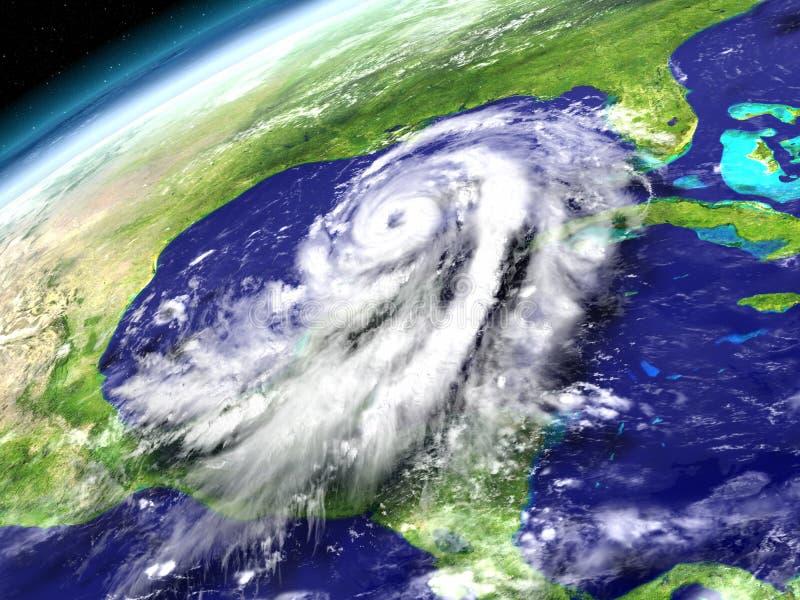 Huracán Matthew en el mar del Caribe ilustración del vector