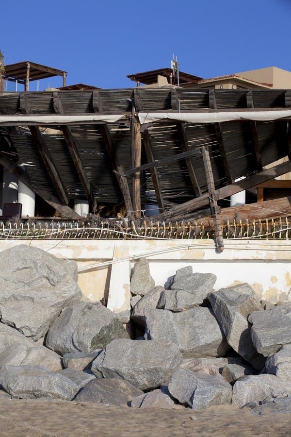 Huracán Odile - Cabo San Lucas imagen de archivo