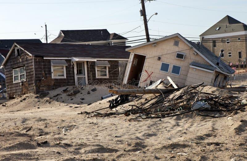 Huracán Sandy Damage foto de archivo
