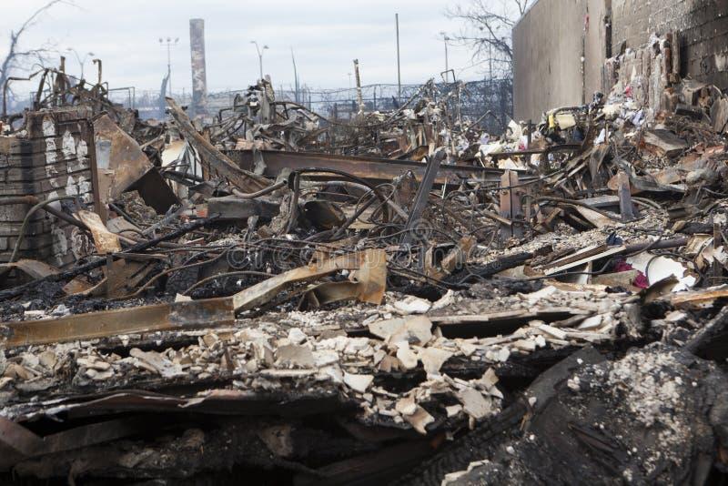 Huracán Sandy de las consecuencias imágenes de archivo libres de regalías