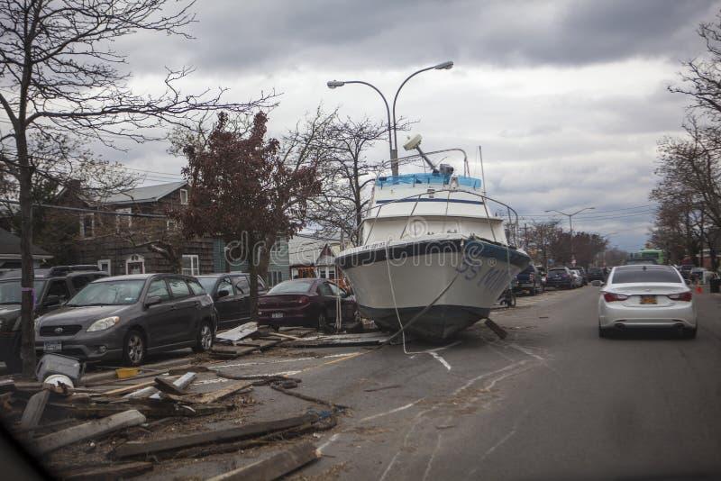 Huracán Sandy de las consecuencias fotografía de archivo libre de regalías