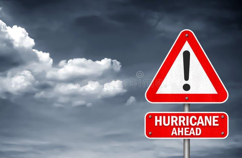 Huragan drogowego znaka naprzód ostrzeżenie obrazy stock