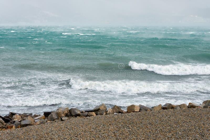 Huraganowa burza w Czarnym morzu zdjęcie royalty free