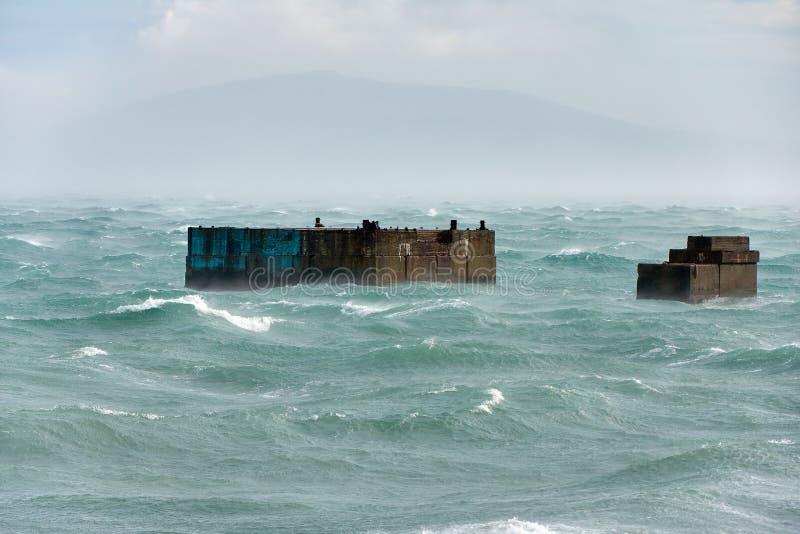 Huraganowa burza w Czarnym morzu fotografia royalty free