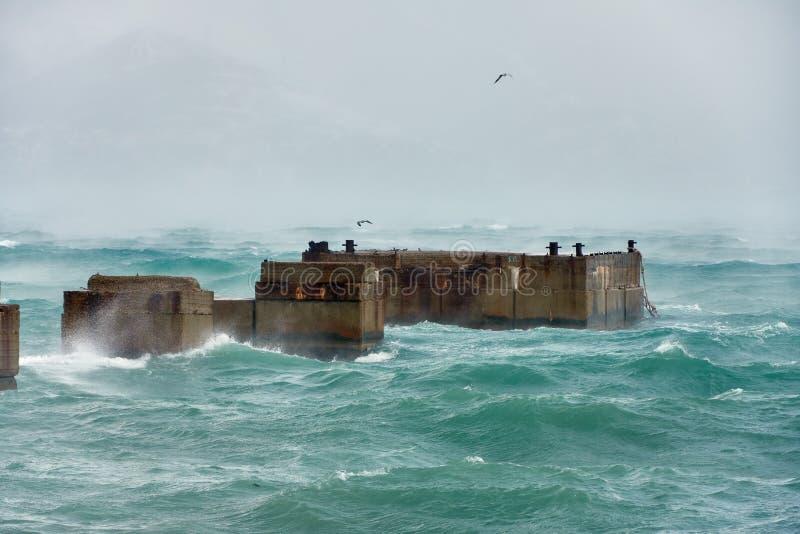 Huraganowa burza w Czarnym morzu obraz royalty free