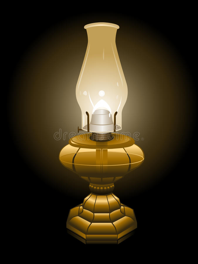 huraganowa ilustracyjna lampa ilustracji