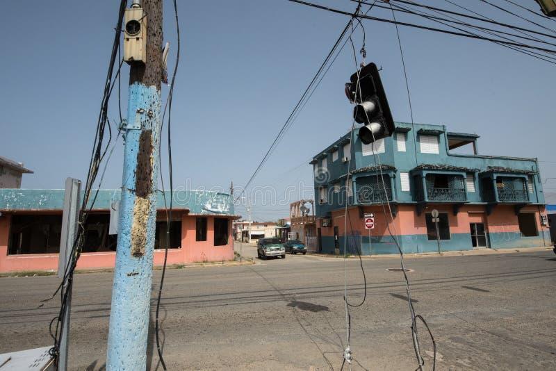 Huraganowa Maria szkoda w Puerto Rico zdjęcie royalty free