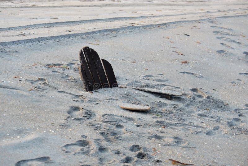 Huraganowy Irma Opuszcza Niestartego Mark na południa Floryda plaży krajobrazie obraz stock