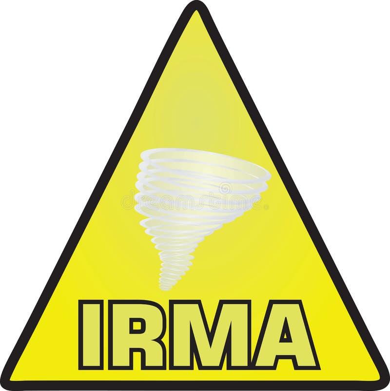 Huraganowy Irma znak ilustracji