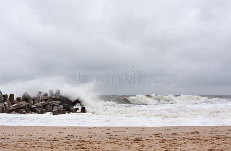 Huraganowy Sandy Podejść New Jersey Brzeg zdjęcia royalty free