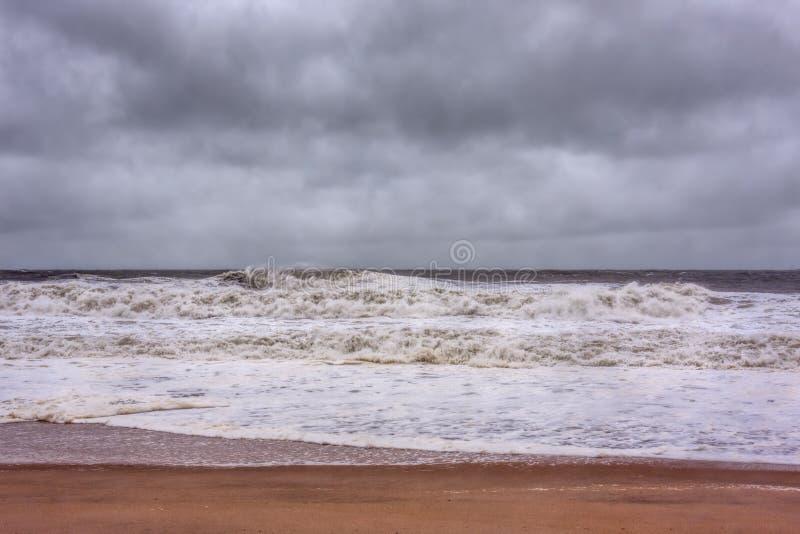 Huraganowy Sandy Zbliża się Nowego - dżersejowy brzeg zdjęcie stock