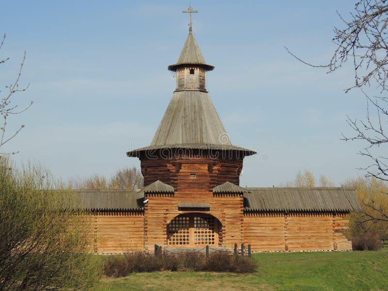 Hurch del ¡de la barbacana Ð del monasterio de Nikolo-Korelsky fotografía de archivo