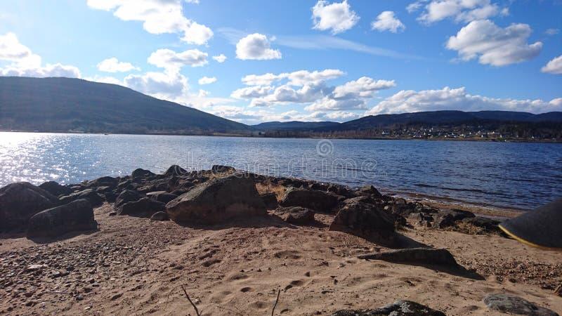 Hurdal sjö i Norge, fantastisk sikt arkivbilder