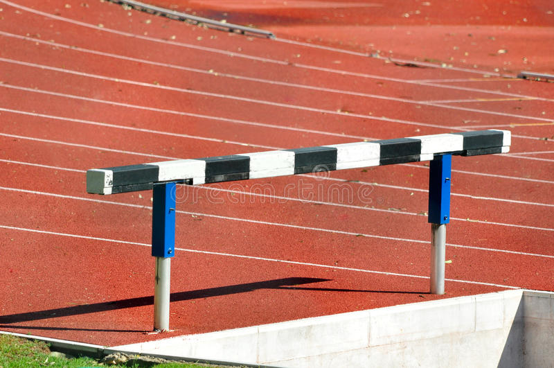 Download Hurdle In An Athletics Running Track Stock Photo - Image: 21255908