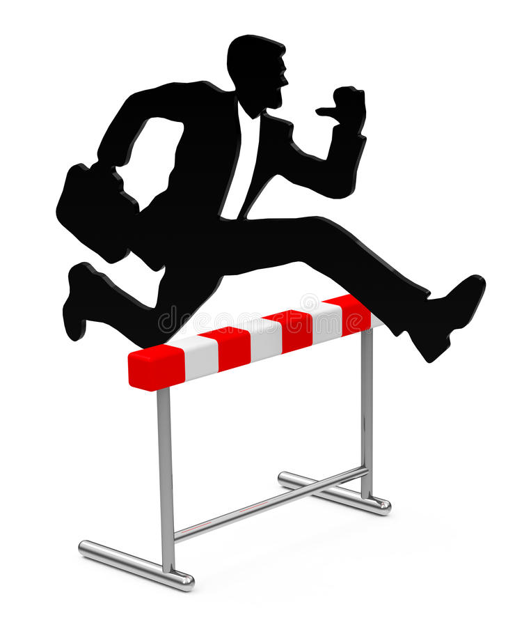 Download The hurdle stock illustration. Illustration of action - 38960124