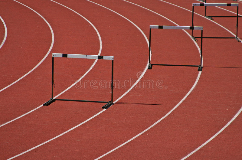 Download Hurdles stock image. Image of facility, leap, school, oval - 7162313