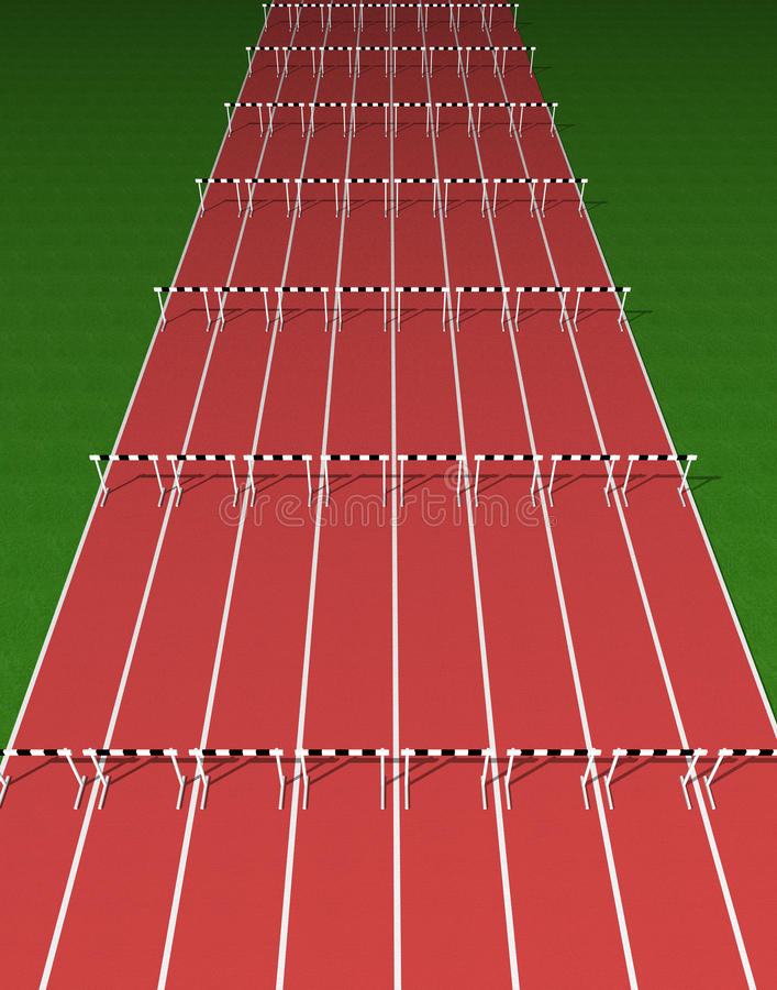 Download Hurdles track stock illustration. Illustration of cycle - 10586141