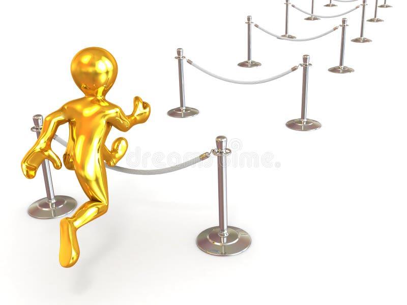 Download Hurdling stock illustration. Illustration of male, speed - 12889227